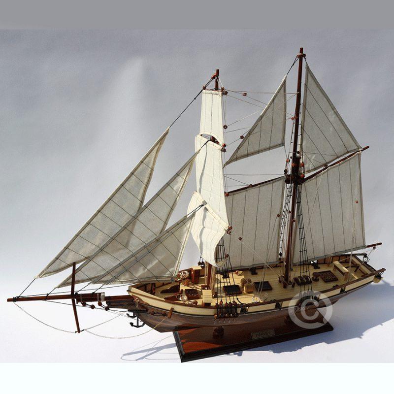 mô hình thuyền gỗ harvey 70cm