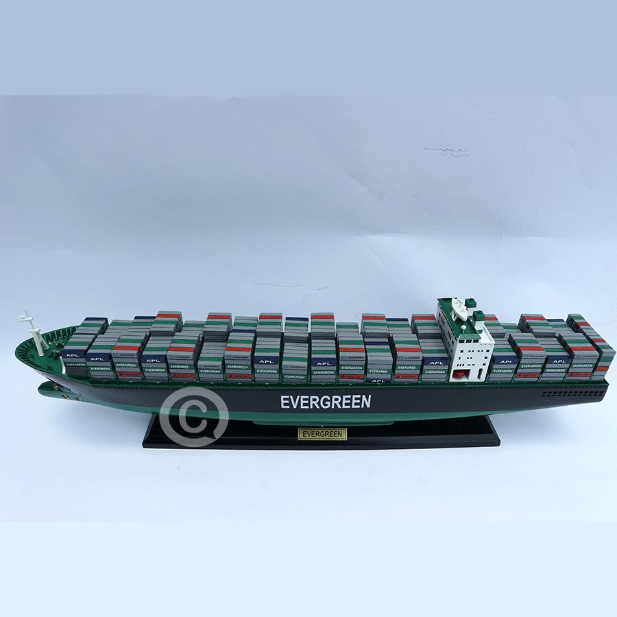 mô hình thuyền gỗ evergreen