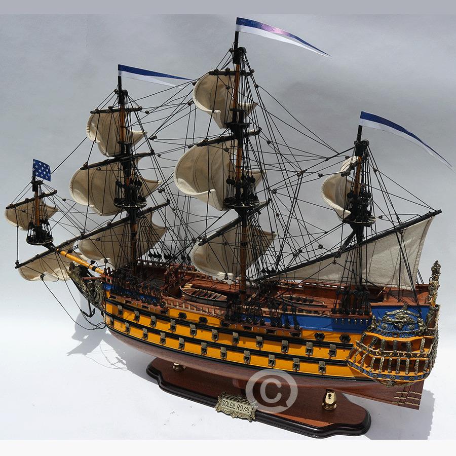 mô hình thuyền gỗ soleil royal