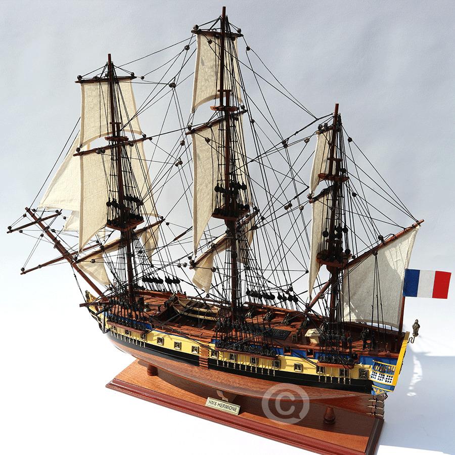 mô hình thuyền gỗ la fayerre hermione painted