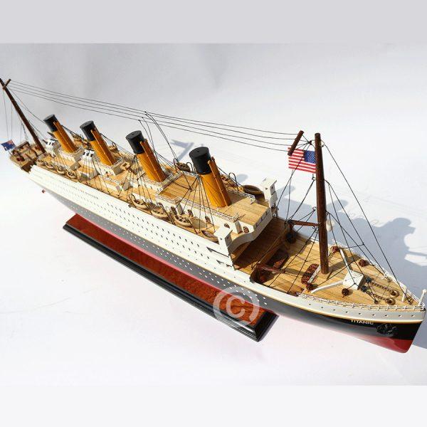 mô hình thuyền gỗ titanic 80