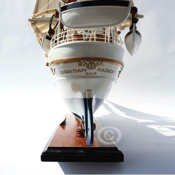 mô hình thuyền gỗ christian radich