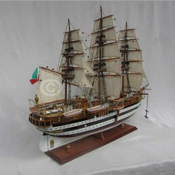 Mô Hình Thuyền Gỗ Amerigo 80Cm