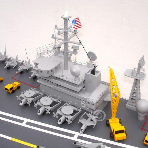 Mô Hình Thuyền Chiến Uss America Cv 66