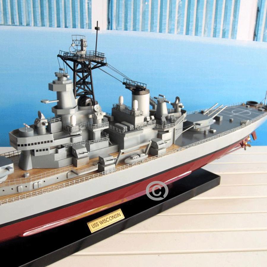MÔ HÌNH THUYỀN CHIẾN USS Wisconsin