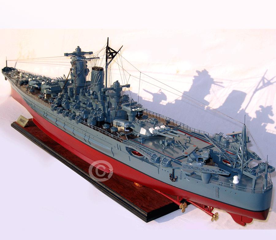 mô hình thuyền chiến yamato