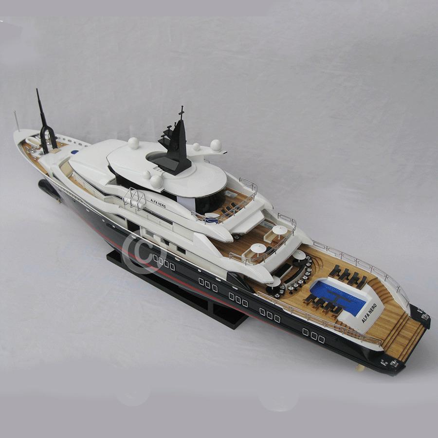 mô hình thuyền hiện đại alfa nero