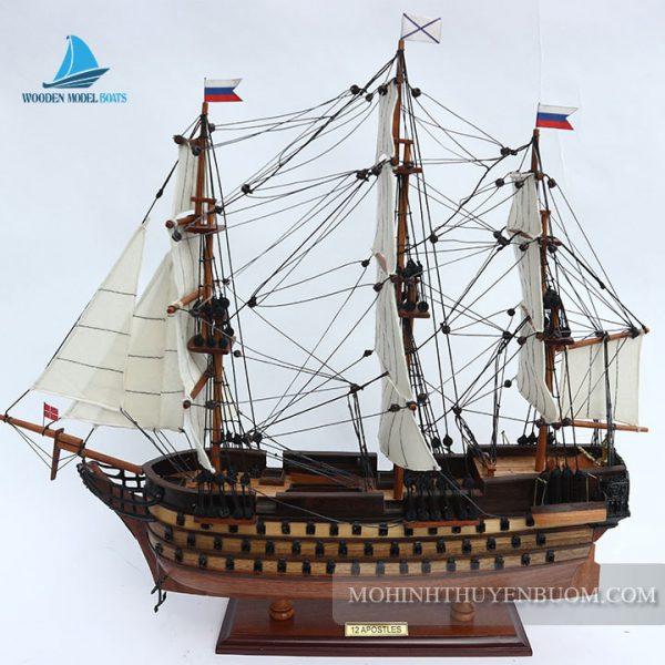 mô hình thuyền gỗ 12 apostles