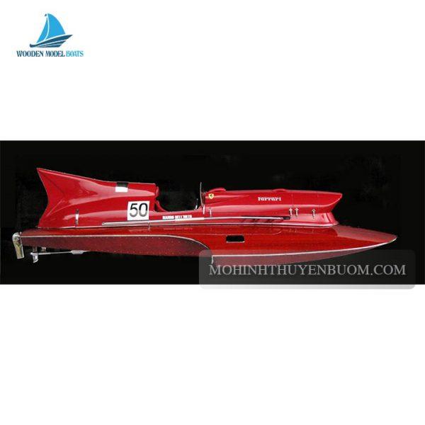 thuyền tranh ferrari hydroplane half-hull