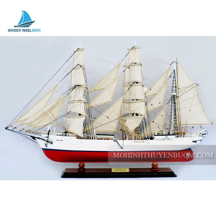 mô hình thuyền gỗ gorch fock i painted