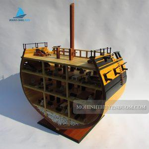 Kệ gỗ HMS ESSEX CROSS SECTION