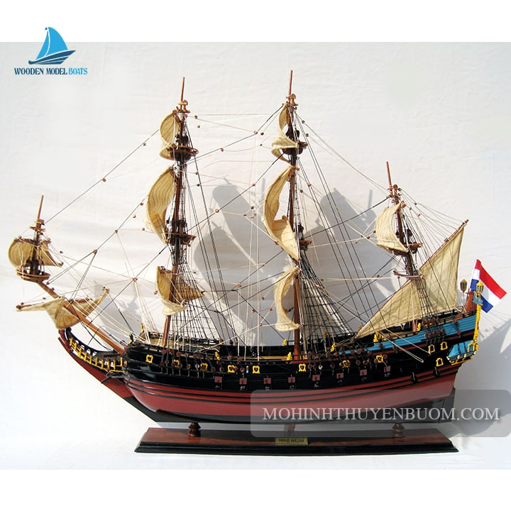 mô hình thuyền gỗ prins willim