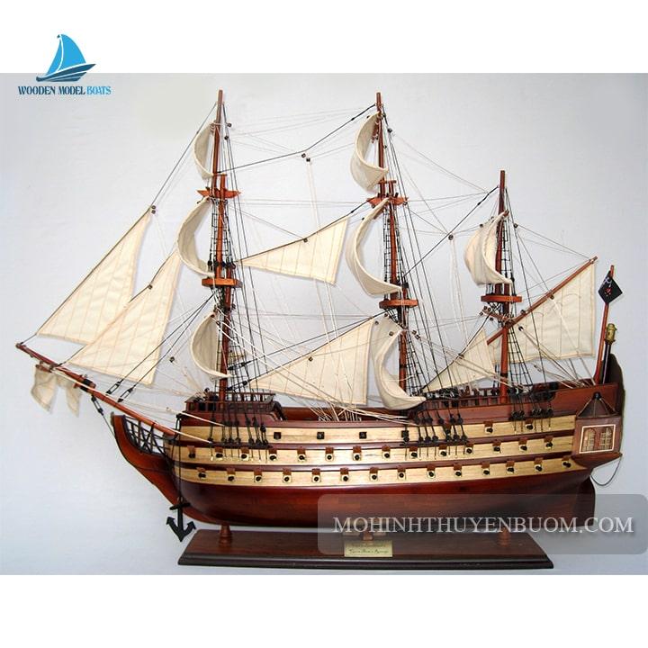 mô hình thuyền gỗ queen anne's revenge