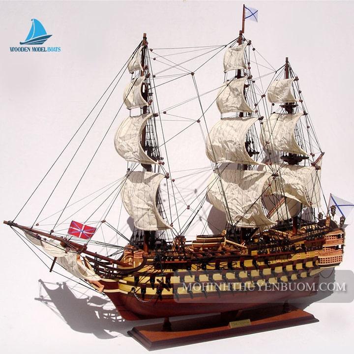 mô hình thuyền gỗ treh hierarchov