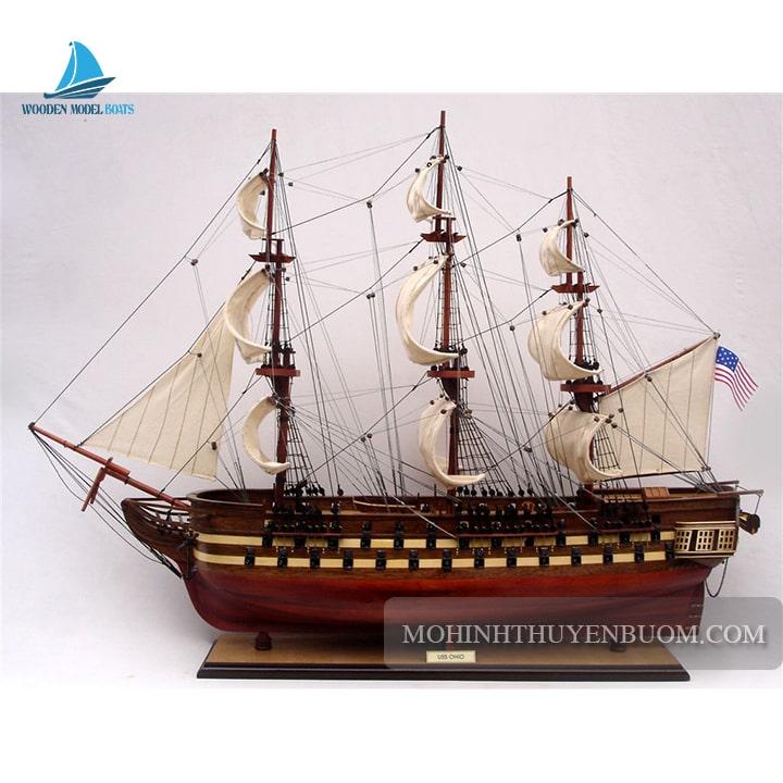 mô hình thuyền gỗ uss ohio