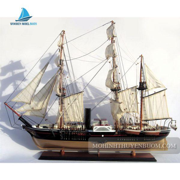 mô hình thuyền gỗ uss powhatan