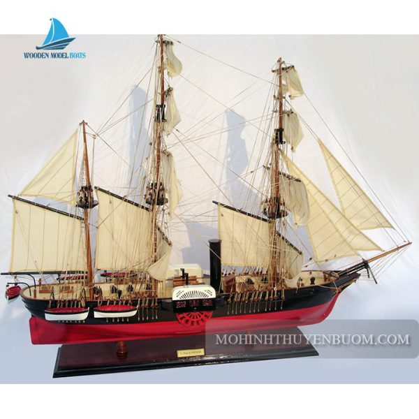 mô hình thuyền gỗ uss susquehanna