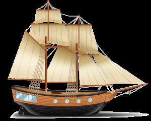 Mô hình thuyền buồm gỗ