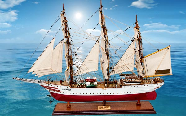 mô hình thuyền buồm phong thủy